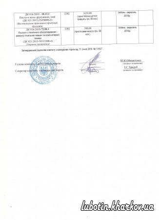 Додаток до річного плану закупівель на 2016 р.  Люботинский МЦСССДМ 25461498