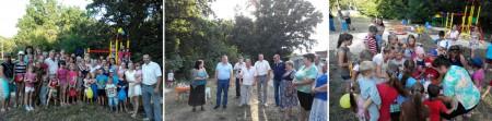 На вулиці Валерія Лобановського відбулося урочисте відкриття десятого ігрового майданчика, встановленого за цей рік